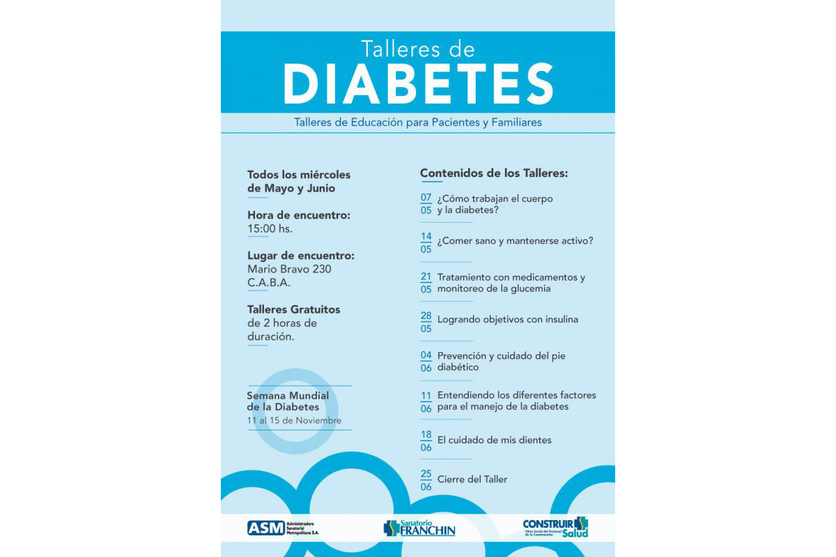 Foto noticia OSPeCon - Talleres de DIABETES